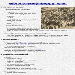 Généalogie Marine