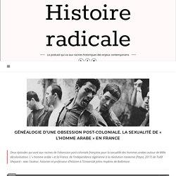 Généalogie d'une obsession post-coloniale. La sexualité de « l'homme arabe » en France – Histoire radicale