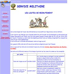 généalogie / service militaire