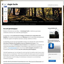 Blog : Généalogie facile
