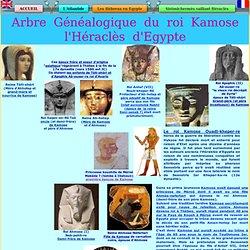 Arbre généalogique du roi Kamose, l'Héraclès d'Egypte