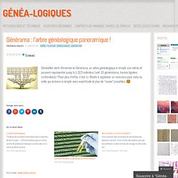 Générama : l'arbre généalogique panoramique !