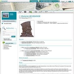 CLOVIS Ier DE FRANCIE - ROI des FRANCS 481-511