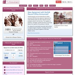 The Genealogist: Search Online Census, Birth, Marriage, Death & Parish Record Indexes and Directories