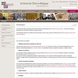 Généalogiste - Archives de l'État en Belgique