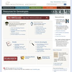 Resources for Genealogists and Family Historians