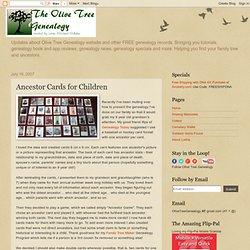 Ancestor Cards for Children