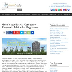 Genealogy Basics: Cemetery Research Advice for Beginners — AncestralFindings.com