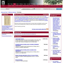 Internet Archive: Genealogy Resources