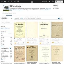 Internet Archive: Genealogy Resources