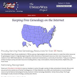 Free Genealogy and Family History Online - The USGenWeb Project-Mozilla Firefox