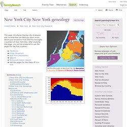 FamilySearch Wiki: New York City