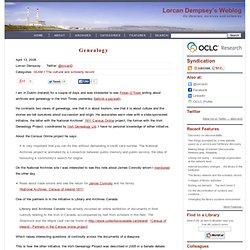 Lorcan Dempsey's weblog: Genealogy