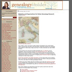 Websites and Organizations for Italian Genealogy Research