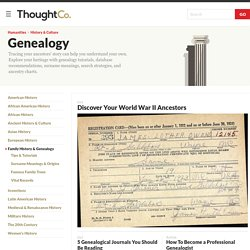 About Genealogy - Learn How to Research Your Family Tree