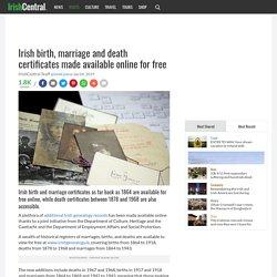 Free Irish genealogy resource availabel online today