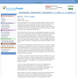 Baird, John Logie genealogy family history ancestry