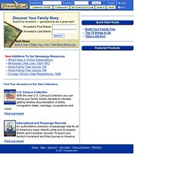 Family Tree Maker Family History Software and Historical Records