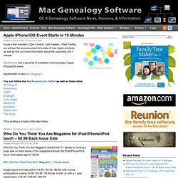 Mac Genealogy Software | Mac Genealogy News & Information