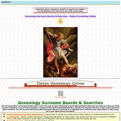 Italian Genealogy