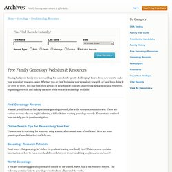 Internet Guides | Free Genealogy Resources