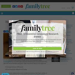 How To Search GenealogyBank Newspaper Records