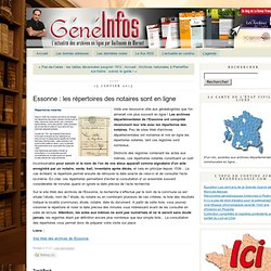 Essonne : les répertoires des notaires sont en ligne
