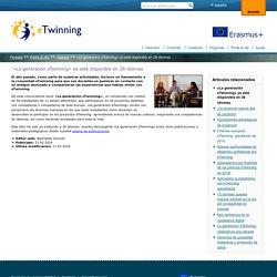 «La generación eTwinning» ya está disponible en 26 idiomas