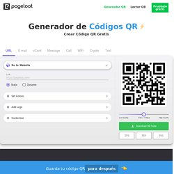 Make Codigos QR (QR Codes) for your Business with Pageloot