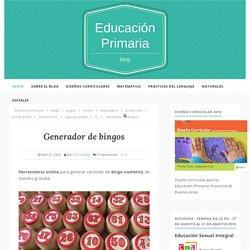 Generador de bingos - Educación Primaria