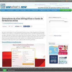 Generadores de citas bibliográficas a través de formularios online