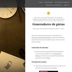 Generadores de pistas – Mi blog de tutoría