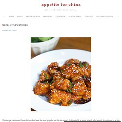 Recipe: General Tso's Chicken