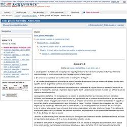Code général des impôts - Article 210 B