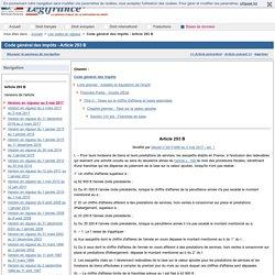 Code général des impôts - Article 293 B