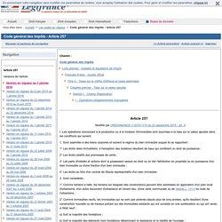 Code général des impôts - Article 257