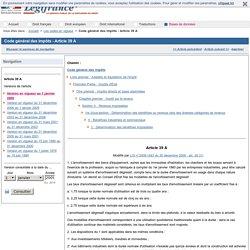 Code général des impôts - Article 39 A