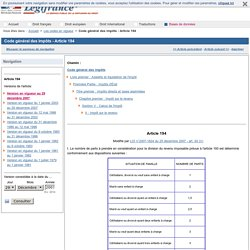 Code général des impôts - Article 194