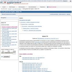 Code général des impôts - Article 175
