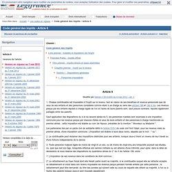 Code général des impôts - Article 6