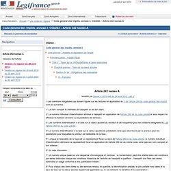 Code général des impôts, annexe 2, CGIAN2. - Article 242 nonies A
