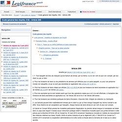 Code Général des Impôts - Article 289