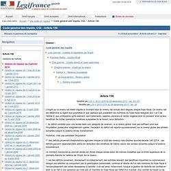 Code général des impôts, CGI. - Article 156