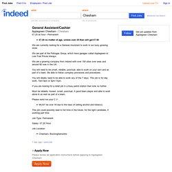 General Assistant/Cashier job - Applegreen Chesham - Chesham