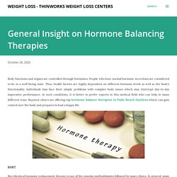 General Insight on Hormone Balancing Therapies