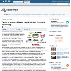 General Motors Makes the Business Case for Recycling