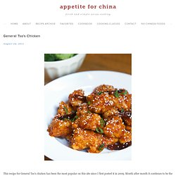 General Tso's Chicken, Two Recipes