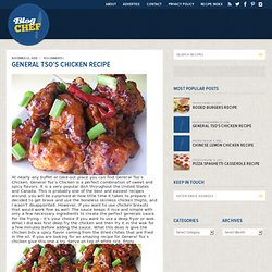 General Tso's Chicken Recipe | Free Online Recipes | Free Recipes - StumbleUpon