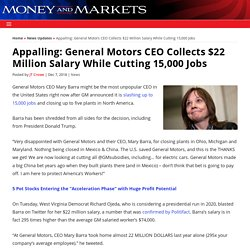 General Motors CEO Collects $22 Million Salary While Cutting 15,000 Jobs