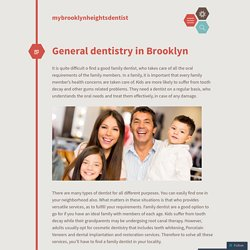 General dentistry in Brooklyn